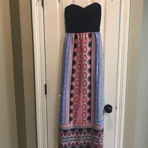 Accidentally in Love Strapless Maxi Dress, XS